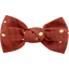 Small bow hair slide gauze terra cotta - PPMC