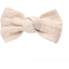 Small bow hair slide  glitter linen - PPMC