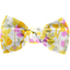 Small bow hair slide mimosa jaune rose - PPMC