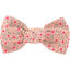 Small bow hair slide mini pink flower - PPMC