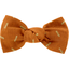 Small bow hair slide caramel golden straw - PPMC