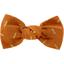 Barrette petit noeud paille dorée caramel