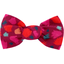 Small bow hair slide pompons cerise - PPMC