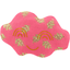 Barrette nuage feuillage or rose - PPMC