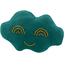Cloud hair-clips emerald green - PPMC