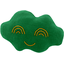 Cloud hair-clips bright green - PPMC