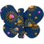 Butterfly hair clip glittering heart - PPMC