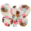 Butterfly hair clip watercolor confetti - PPMC