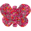 Barrette petit papillon crocus groseille - PPMC