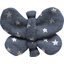 Butterfly hair clip silver star jeans - PPMC