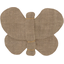 Barrette petit papillon lin or