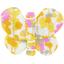 Barrette petit papillon mimosa jaune rose - PPMC