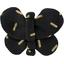 Barrette petit papillon  paille dorée noir - PPMC