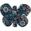 Barrette petit papillon paquerette marine - PPMC