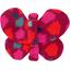Barrette petit papillon pompons cerise - PPMC