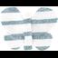 Barrette petit papillon rayé bleu blanc - PPMC