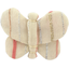 Butterfly hair clip silver pink striped