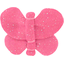 Butterfly hair clip rose pailleté