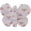 Butterfly hair clip triangle cuivré gris