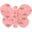 Barrette petit papillon triangle or poudré - PPMC