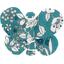 Pasadores de mariposa violeta celadon - PPMC