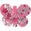Barrette petit papillon violette rose - PPMC