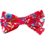 Ribbon bow hair slide cherry cornflower - PPMC
