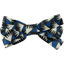 Ribbon bow hair slide parts blue night - PPMC