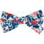 Ribbon bow hair slide flowered london - PPMC