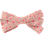 Ribbon bow hair slide mini pink flower - PPMC