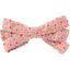 Pasador lazo listón mini flor rosa - PPMC
