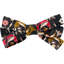 Ribbon bow hair slide ochre bird