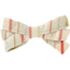 Ribbon bow hair slide silver pink striped - PPMC