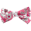 Barrette noeud ruban violette rose - PPMC