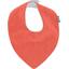 Bavoir bandana gaze dentelle corail - PPMC