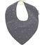 Bavoir bandana gaze gris or