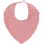 Bavoir bandana gaze lurex vieux rose  - PPMC