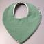 Bavoir bandana gaze vert sauge - PPMC