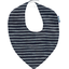 bandana bib striped silver dark blue - PPMC