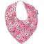 Bavoir bandana violette rose - PPMC