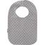 Bavoir Bébé pois gris clair - PPMC