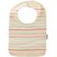 Bib - Baby size silver pink striped - PPMC