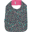 Bib - Child size green azure flower - PPMC