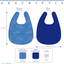 Bavoir tissu plastifié baie mentholée