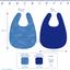Bavoir tissu plastifié confetti aqua