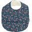 Coated fabric bib fleuri nude ardoise - PPMC