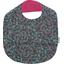 Bavoir tissu plastifié milli fleurs vert azur - PPMC