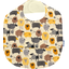 Coated fabric bib yellow sheep - PPMC