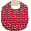 Coated fabric bib paprika petal
