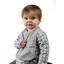Bavoir Enfant pois gris clair